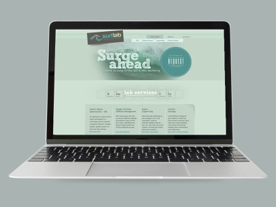 Surflab website ux design branding ui website design