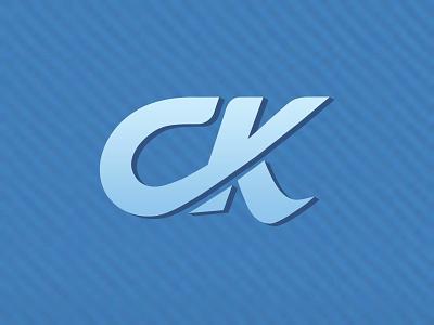 CK monogram typography icon logo branding