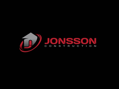 Jonsson Construction Logo typography logo branding