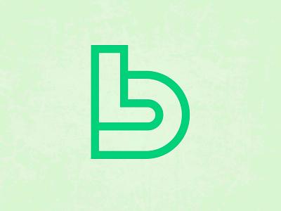 LB Monogram icon typography logo