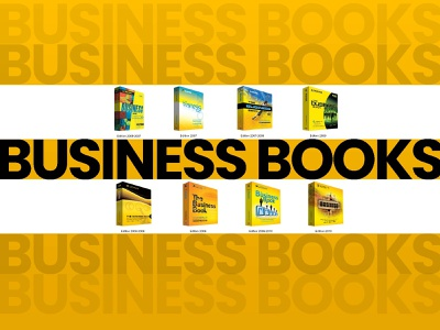 Business Books book cover typography print