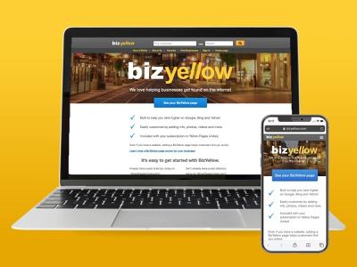 Bizyellow website ux design ui website design