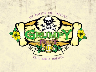 Grumpy Fest illustration vector illustration
