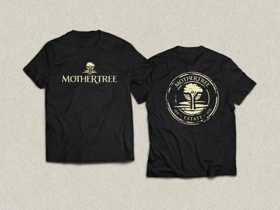 Mothertree tee logo tee shirt design branding