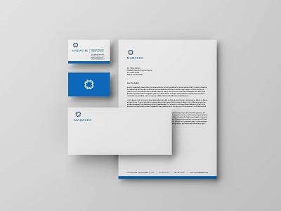 Madache stationary print stationery branding
