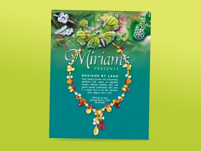 Miriams flyer print design postcard