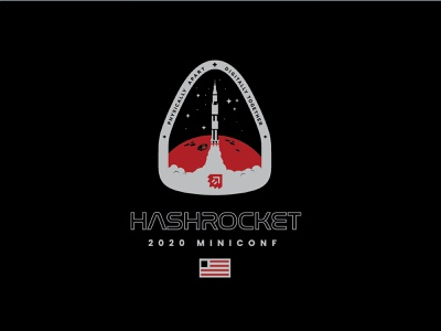 Hashrocket Miniconf logo vector illustration logo branding