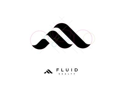 Fluid Realty Golden Ratio Logo icon logo branding golden ratio