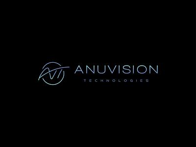 Anuvision Technologies Logo typography logo branding