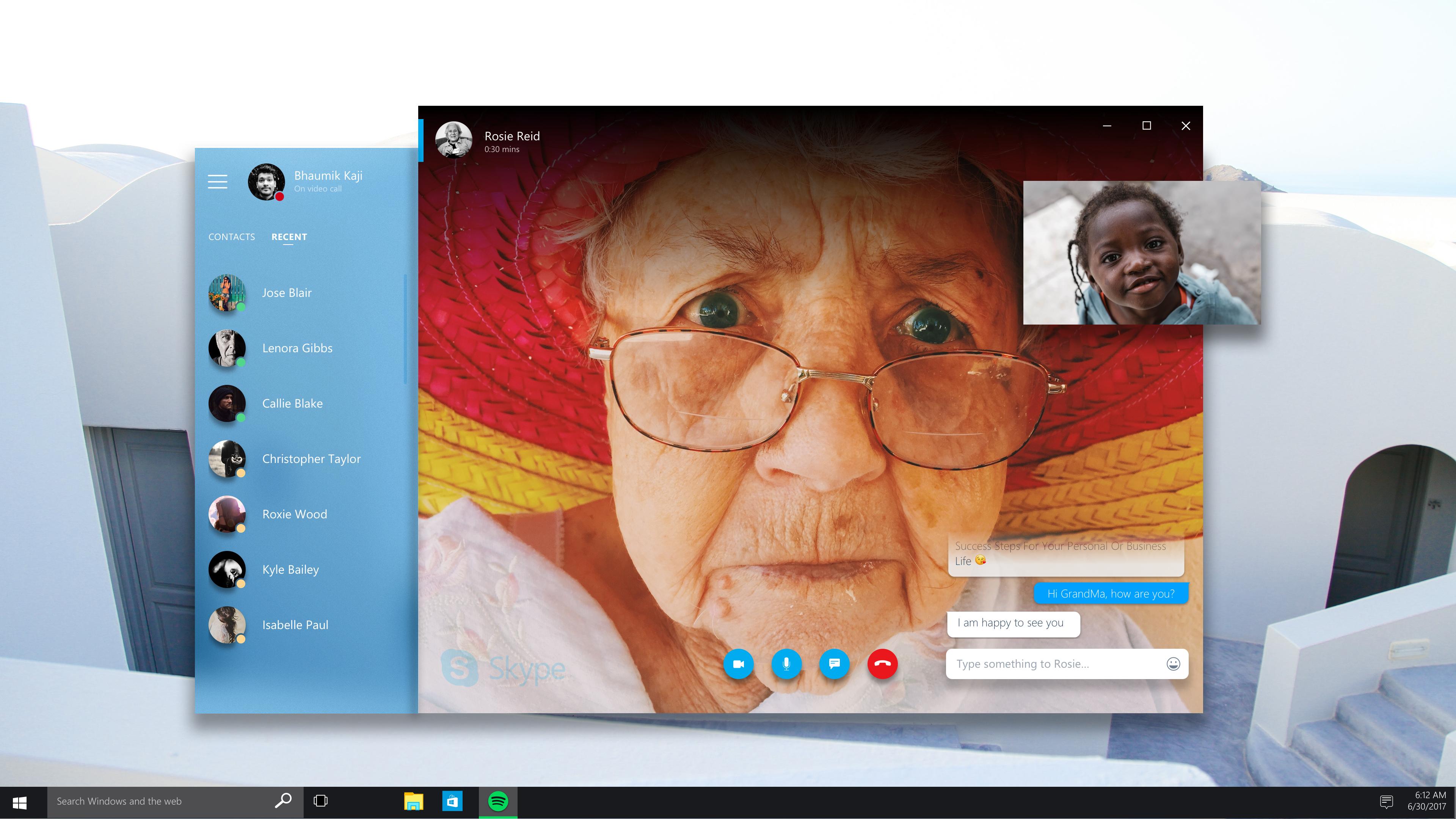 Fluent skype