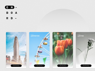 Photography App Onboarding uiux ux ui first run ftux onboarding app app onboarding principles photography