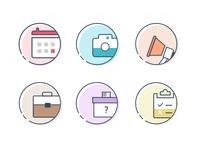 Productivity icon set