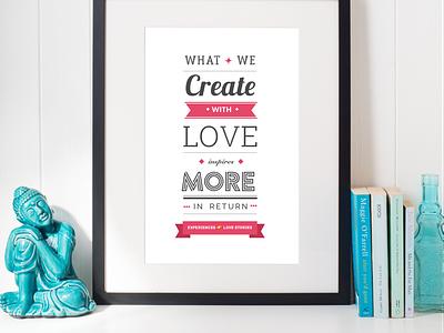 Typographic poster create love typography poster typographic