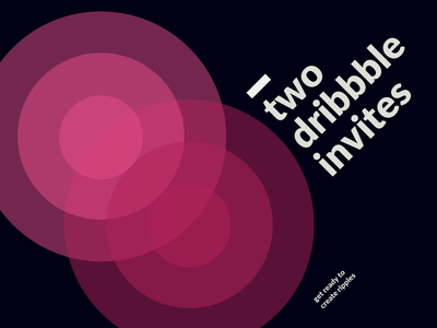 Two Dribbble Invitations rippple design type swiss invite dribbble two