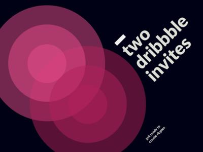 Two Dribbble Invitations rippple design type swiss invite dribbble two