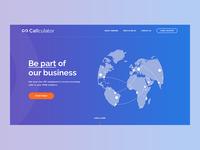 Callculator webapp user experience ui ux user interface callcualtor webapp design voip services voip service provider visual interface web application web app