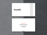 brandit visual identity wordmark typography symbol studio simple brand pattern minimal branding logotype logo business cards branding