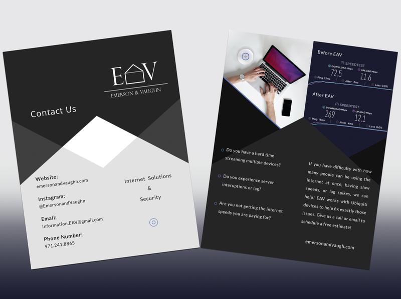 EAV Pamphlet Design typography logo illustrator ux ui illustration design branding