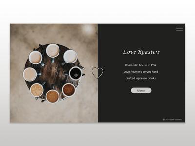 Love Roasters Website Design website web logo ux ui typography illustrator illustration design branding