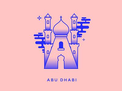 Abu dhabi illustration icon typography