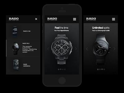 Rado webdesign luxury mobile