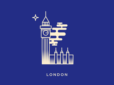 London typography illustration icon