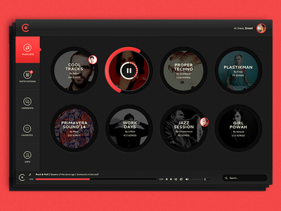 Collie - Collaborative playlists ui app music