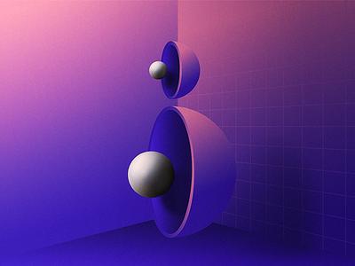 B geometry space experiment typography design gradients