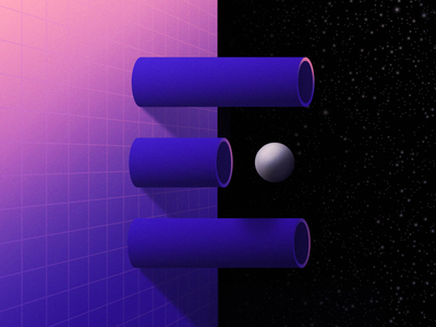 E typography space gradients geometry experiment design