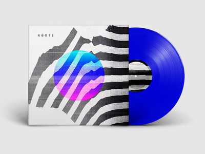 Norte Cover EP packaging music cover artwork art direction