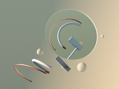 Reflection G 3d typography illustration mirror cinema 4d