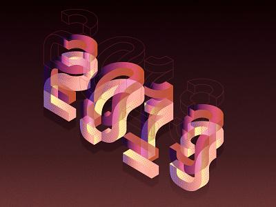 2019 illustration vector design gradient typography 2019