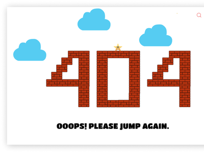 404 template Mario Inspiration 404error 404page mario bros