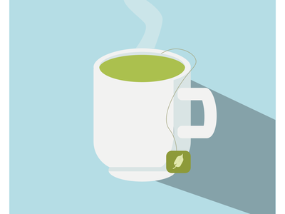 Flat design Cup of Tea flat  design flat illustrator illustrator poster design flat illustrations