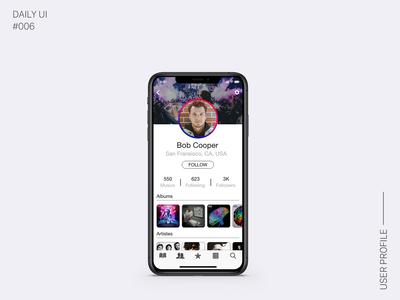 Daily Ui - 006 | User Profile