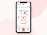 Female Health Tracking App yalantis design web design ui ux animation mobile app development female health tracking app app development company