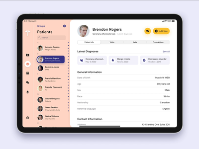 E-Prescription Platform dashboard ui dashboard yalantis medicine health clinical web app doctor patient animation medical ux ui software e-prescription erx app erx