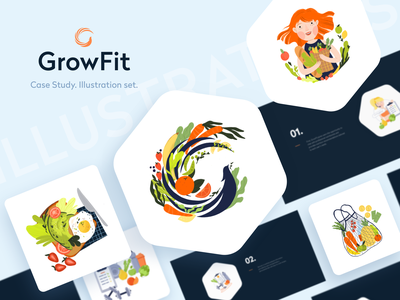 GrowFit App yalantis uidesign design uiuxdesign uiux illustration meal planner fitness app health health app diet app