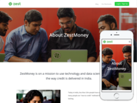 About ZestMoney Page