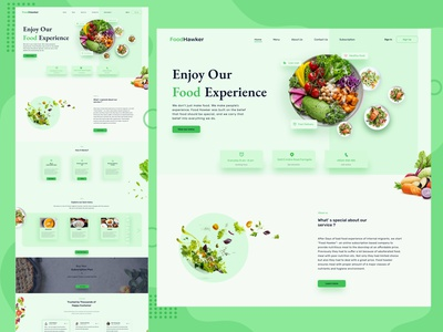 Food Hawker uiux clean ui clean landing page design food landing page webdesign minimal ux uidesign food delivery food hawker