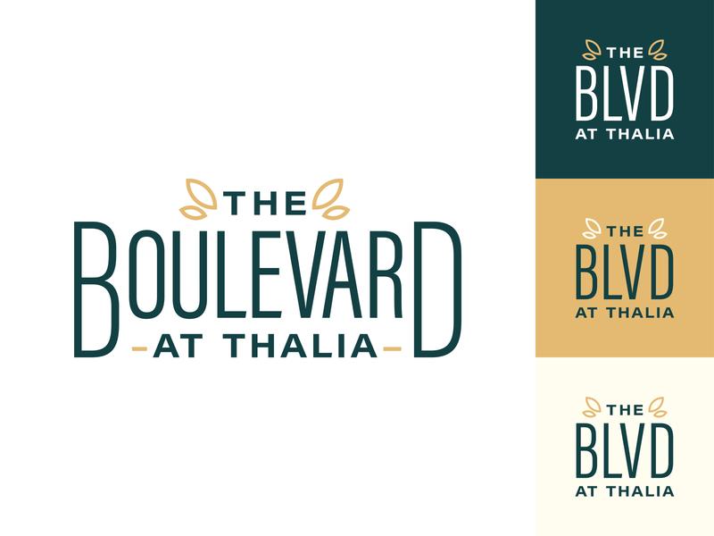 The Boulevard Logo Concept | Two apartments boulevard illustrator identity design branding logo