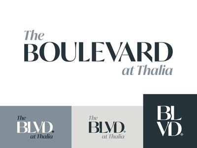 The Boulevard Logo Concept | Three apartments logomark boulevard illustrator identity design branding logo