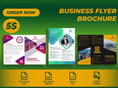 Need Flyer or Brochure ? illustration vector branding logo creative design design