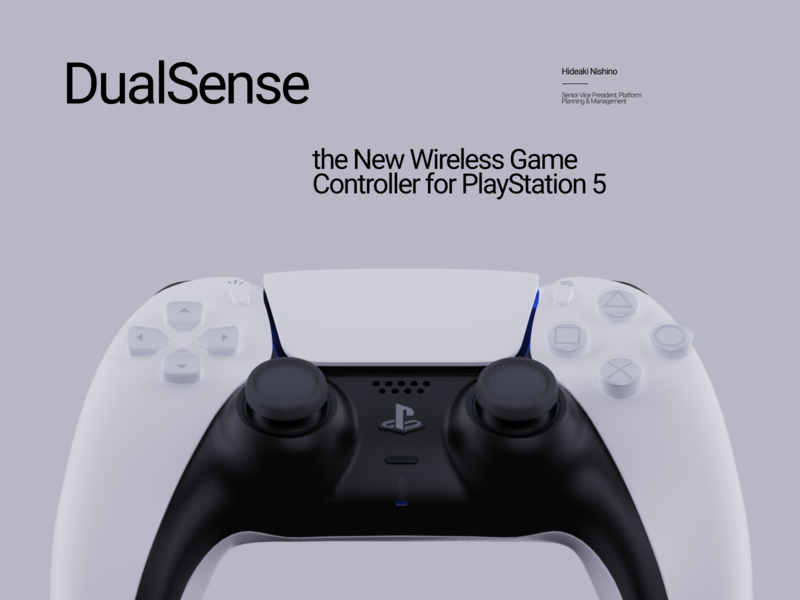 DualSense | Game Controller for PlayStation 5 game controller gamepad ux typography design cinema 4d cinema4d 3d playstation3 playstation5 playstation4 playstation ps4 ps3 ps5