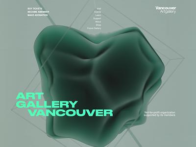 Art Gallery Vancouver vancouver artgallery art direction c4d octane gallery art abstract figma typography design ux cinema 4d cinema4d 3d vancouver island artwork canada gallery art art gallery vancouver
