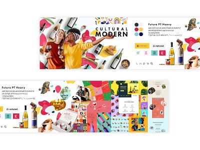 "Stylescape Moodboard 2.0 BRAND KEY WORD ""modern + cultural"" millennials food wine futur ux corporate identity corporate design typogaphy hero layout design ui company logo illustration web branding screendesign"