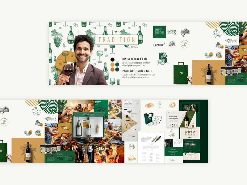 "Wine Store Stylescape Moodboard 2.0⁣⁣ ""Traditional"" ui  ux uiux ui corporate design color logos brand identity stylescape icon typography ux vector branding logo illustration webdesign"