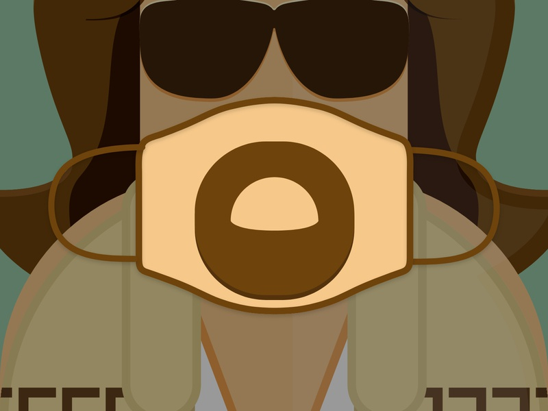 The Dude The Big Lebowski Mask Challenge movies lebowski thedude dude poster film stay home stay safe stayhome facemask covid-19 covid19 covid coronavirus corona challenge design mask vector illustration