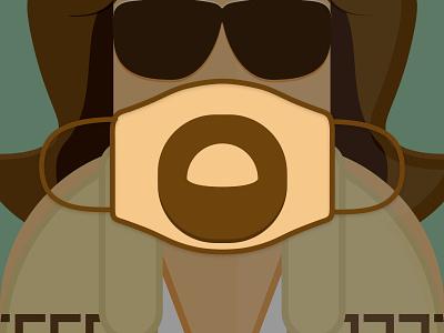 The Dude The Big Lebowski Mask Challenge movies lebowski thedude dude poster film stay home stay safe stayhome facemask covid-19 covid19 covid coronavirus corona challenge design mask vector illustration