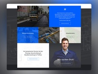 Engineer Office SAUTER Web Design Overview
